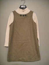 NEW FLORIANE Wool Sleeveless Dress Jumper Moss Size 8