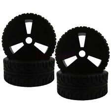 4PCS RC 1/8 On-Road Buggy Foam Rubber Tyre Tires Wheel Rim black 83B-803