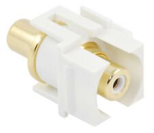 Recessed RCA keystone coupler - white