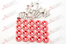 20 PC RED BILLET ALUMINUM FENDER/BUMPER WASHER/BOLT ENGINE BAY DRESS UP KIT