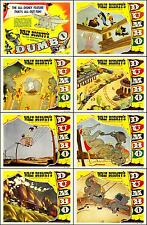 DUMBO WALT DISNEY Complete Set Of 8 Individual 8x10 LC Prints 1941