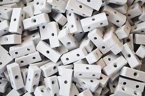 100 X MODESTY MOD BLOCKS GREY FURNITURE KITCHEN CUPBOARD FIXING JOINT CONNECTOR
