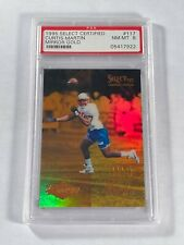 1995 CURTIS MARTIN ROOKIE MIRROR GOLD - SELECT CERTIFIED #117 - PSA 8