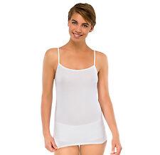 SCHIESSER Damen ESSENTIALS Trägertop Unterhemd 2er Pack Gr 36-48 Shirts 0/0 NEU