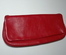 Vintage Fashions By Margolin Red Leather Clutch Bag