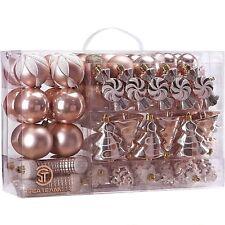 73-Pack Assorted Ornaments Shatterproof Christmas Balls Set Decorative Baubles