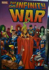 THE INFINITY WAR~ Marvel Deluxe TPB OOP Thanos Warlock~ RARE NEW