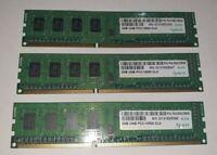 APACER HYNIX 3x 2GB = 6GB RAM MEMORY DDR3 PC3-10600U- CL9 home office desktop PC