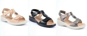LADIES DR LIGHTFOOT WIDE FIT COMFORT CUSHION ANKLE STRAP WEDGE SANDALS 3-8 7664