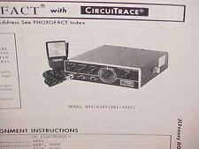 1975 JCPENNEY CB RADIO SERVICE SHOP MANUAL MODEL 981-6240 (981-3445) JC PENNEY