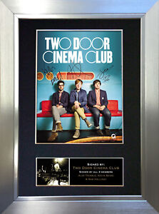 TWO DOOR CINEMA CLUB Signed Autograph Mounted Photo Reproduction A4 Print 281