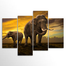 Without Frame Home  Decor Canvas 4 Panels Canvas Prints Elephant Wall Art canvas
