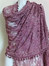 NEW FLORAL LACE  SCARF SCARVES GIFT  SHAWLS GIFT PRETTY PASHMINA STOLE SHAWLS