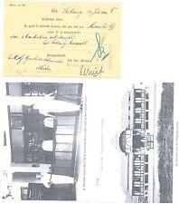 NED  INDIE  S.M.N. 1920 PS CARD SCHEEPSAGENTUUR  SABANG  + DOC.