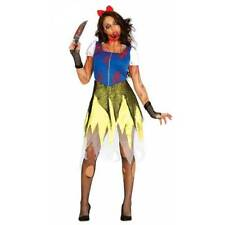 Ladies Zombie Snow White Halloween Bloody Fancy Dress Costume
