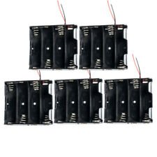 """AA Battery Holder 4-AA Cells Storage Case Box With 6"""" Cable Leads Count 5"""