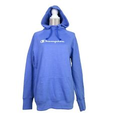 Champion Logo Sweatshirt Hoodie Pullover Size Small Womens Periwinkle Blue