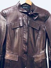 Gucci by Tom Ford Maroon Leather Jacket