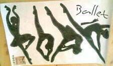 4 Ballet Dance figures - Wall Decor Vinyl Decal Sticker Art DIY -  BLACK