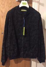 Versace Jeans Negro Y Verde Bomber Jacket Size UK 38/IT 48