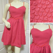 COOPERATIVE New Womens Red Heart Hearts Sleeveless Tea Skater Dress M Fit Flare