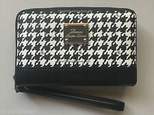 RALPH LAUREN Zip-around Tech Wristlet Houndstooth Wallet **BNWT** for iPhone