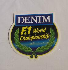 Adesivo Sticker DENIM F1 WORLD CHAMPIONSHIP - Auto Formula 1 vintage anni '80