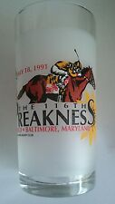 VINTAGE PIMLICO 116TH PREAKNESS 1991 OFFICIAL HORSE RACING GLASS HANSEL BAILEY