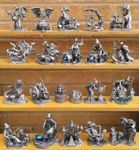 TUDOR MINT MYTH & MAGIC - SELECTION OF PEWTER FIGURES - BOXED.