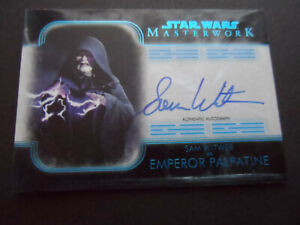 TOPPS STAR WARS 2020 MASTERWORK EMPEROR PALPATINE AUTO ON CARD 72/99