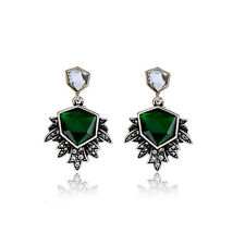 NEW Urban Anthropologie Insignia Emerald Green Rhinestone Drop Earrings