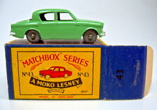 "Matchbox RW 43A Hillman Minx rare 1. Farbe grün top in ""B"" Box"