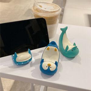 Cute Cartoon shark Penguin Dolphin Phone Holder Home Desktop Mobilephone Stand