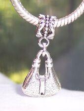 Purse Pocketbook Handbag Bag Dangle Bead for European Charm Bracelets
