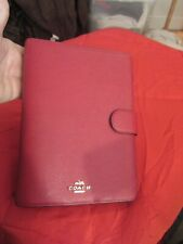 NEW COACH AGENDA A5 IN CRIMSON SAFFIANO LEATHER WITH 2020 PLANNING DIARY