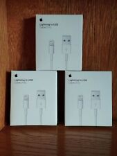 3x Genuine Original OEM Apple Iphone XS Max X 8 7 6S Lightning USB Cable Charger