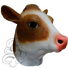 LATTICE ANIMALE MUCCA LATTE (Marrone) capo Partito Mask-Halloween Hen Stag Puntelli eventi