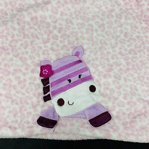 Lambs & Ivy Pink Cheetah Leopard Animal Print Baby Blanket Purple Zebra Flower