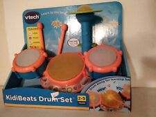 VTech KidiBeats Kids Drum Set Orange Standard Packaging 4 Drums 2 Drumsticks
