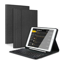 "For iPad 6th/5th Gen 2018 2017 9.7"" Bluetooth Keyboard Cover Case +Pencil Holder"