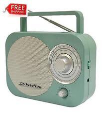 Vintage Studebaker Portable Am/Fm Retro Classic Radio Teal Stud-Sb2000Te **New**