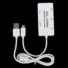 3-Port Micro USB OTG USB 2.0 HUB +SD MMC TF Multi-card Reader Combo w/ Cable