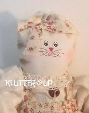 Delton Country Primitive Prim Fabric Muslin Doll Girl CAT*Baby