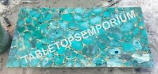 3'x2' Marble Top Dining Table Agate Inlay Stone Furniture Decor H5689