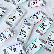Fundas silicona ticket pasaje avión world Iphone 11 Pro SE X XR XS 8 7 6 6S