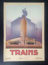 TRES RARE ancienne revue SNCB Trains N° 1 1951 rail Belgique TTBE