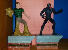 Spiderman 3 Uomo di Sabbia + Black Venom Action Figures Marvel Comics movie sand