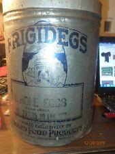 Antique Frigidegs 30lb Frozen Egg Products Metal Tin