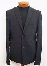 $2175 Authentic KRIS VAN ASSCHE Black EMBROIDERED Blazer Jacket EUR-50 US-40 M