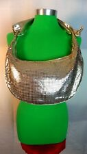 Hand Bag - Women's Silver Metallic Metal Handbag  - Retro Style